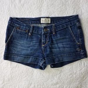 Abercrombie & Fitch Denim Jean Shorts Dark Rinse 2